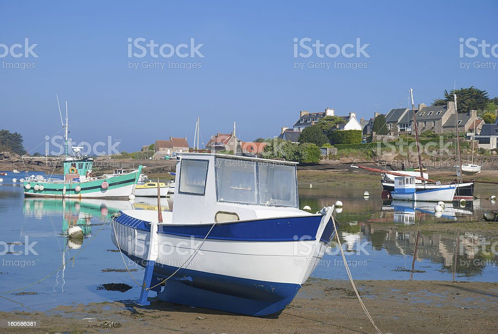Ploumanach,Brittany,France royalty-free stock photo