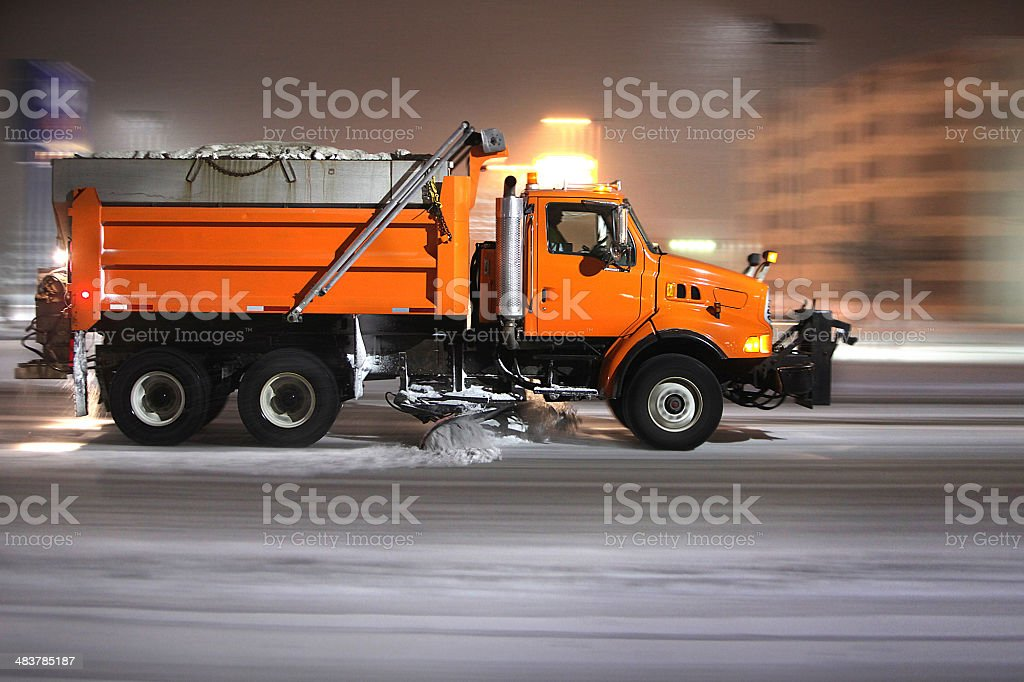 Plow Truck stock photo