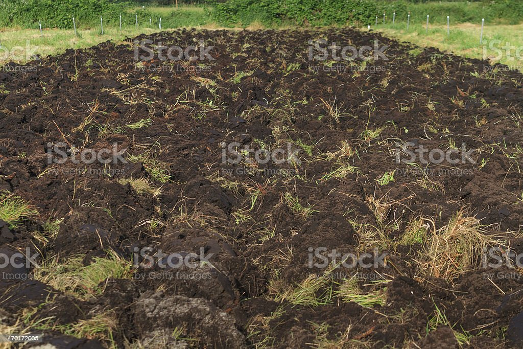 Plowed Farm Field royalty-free stock photo