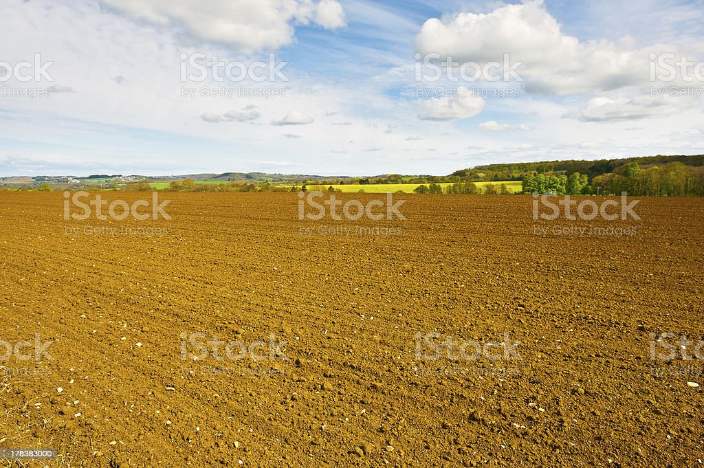 Plowed Field royalty-free stock photo