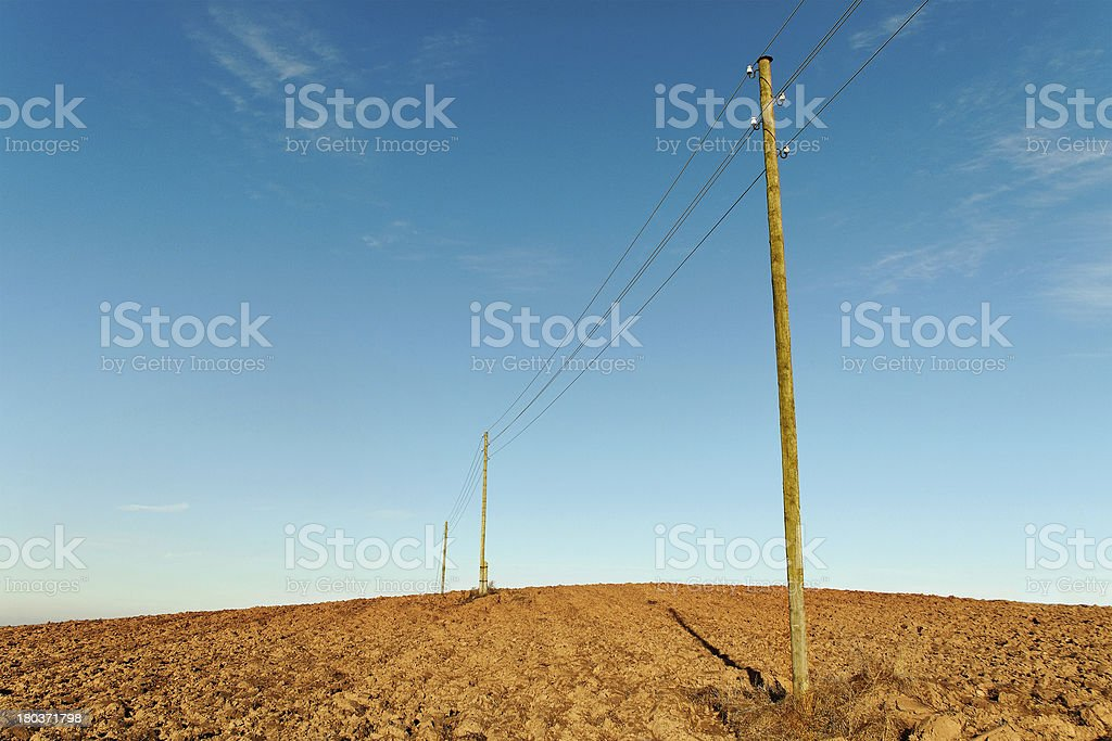 Plowed field. royalty-free stock photo