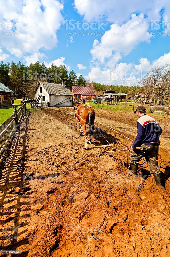 Plowing stock photo