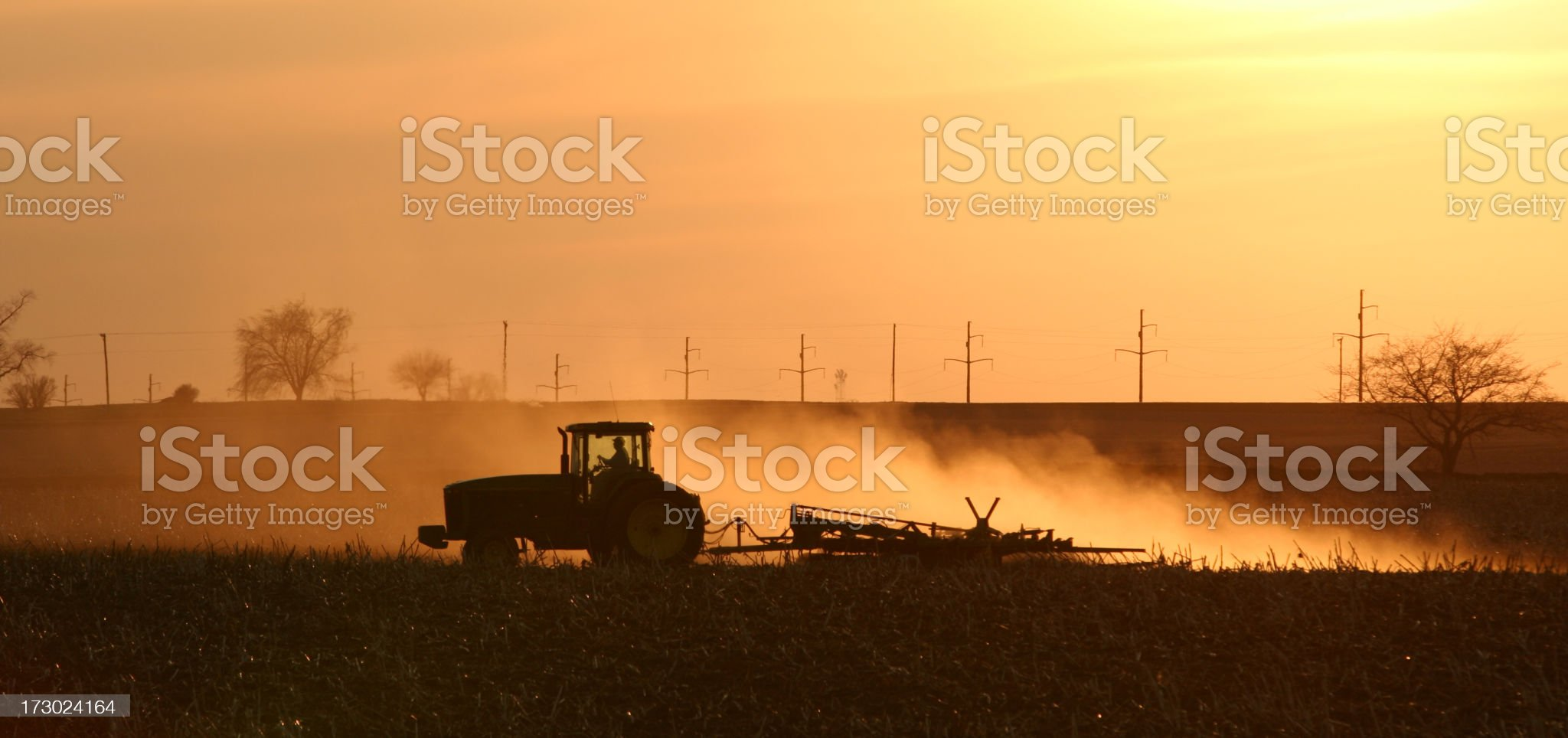 Plowing the Field in Spring royalty-free stock photo