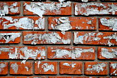 Plucked ads on a brick wall