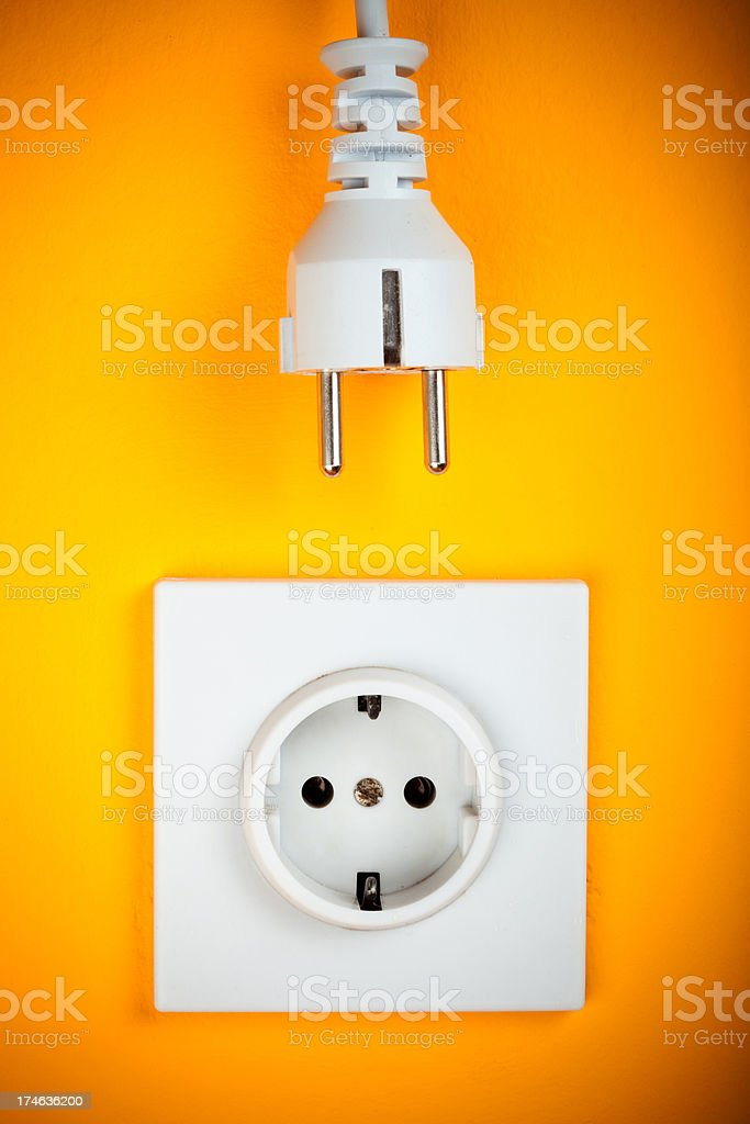 Plug and Outlet royalty-free stock photo