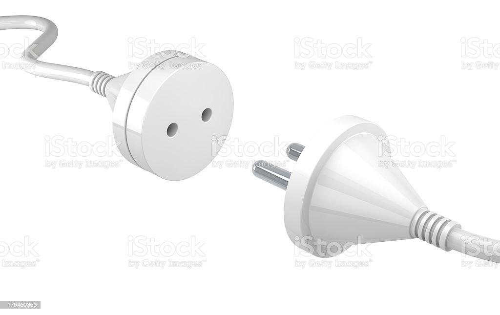 Plug and socket royalty-free stock photo