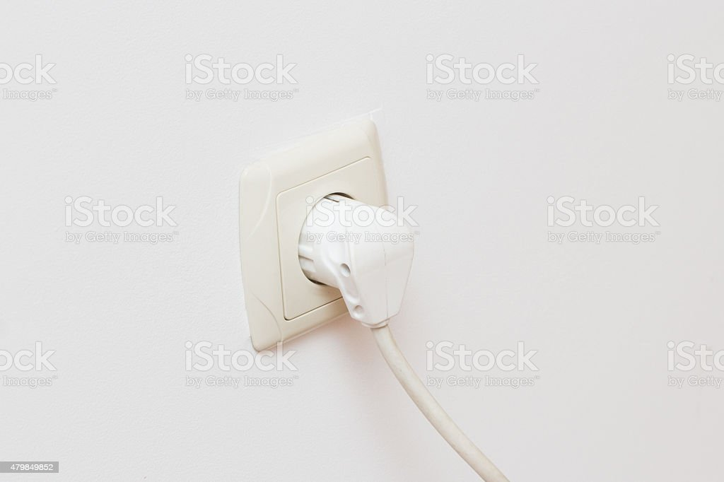 Plug  in Electricity Socket stock photo