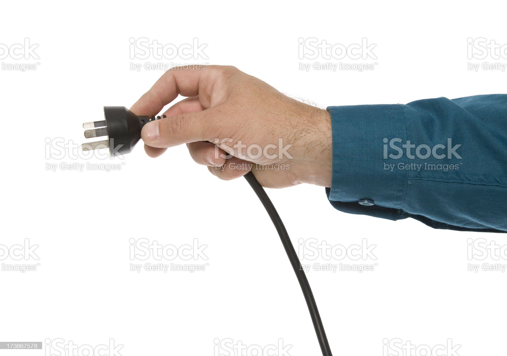 Plug In Power royalty-free stock photo