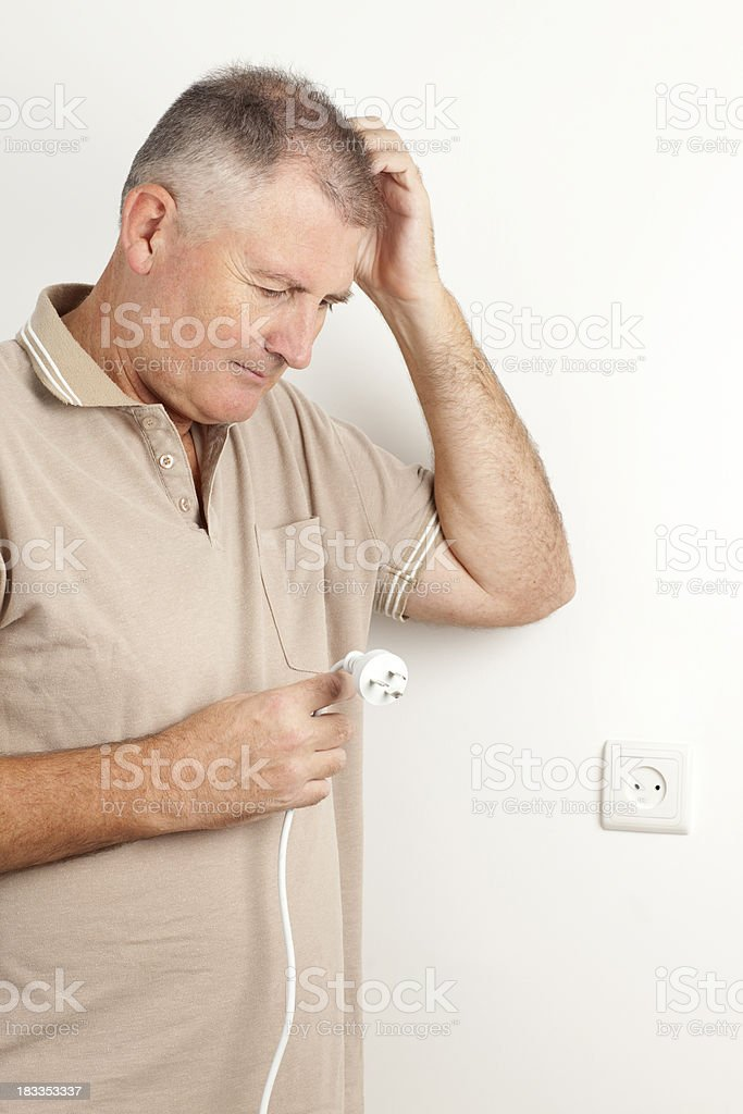 Plug in problem. royalty-free stock photo
