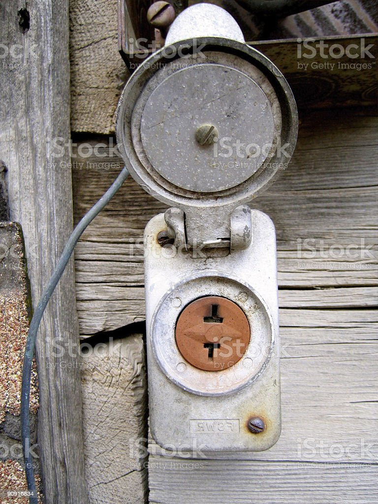 Plug it In Old Style stock photo