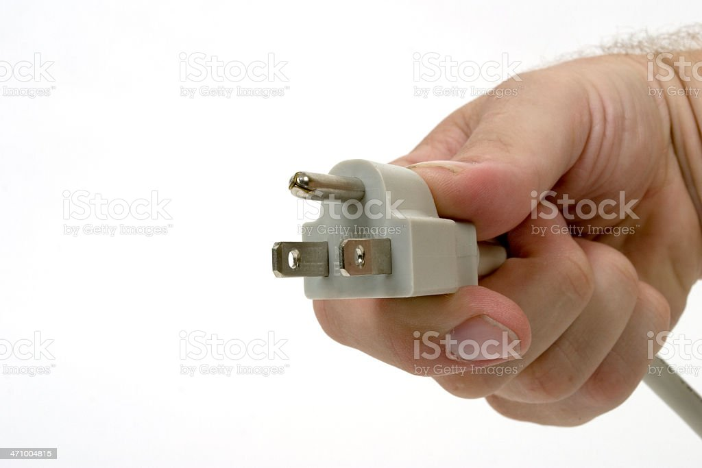 Plug It In royalty-free stock photo