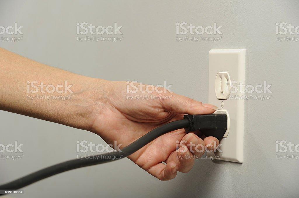 Plug it royalty-free stock photo