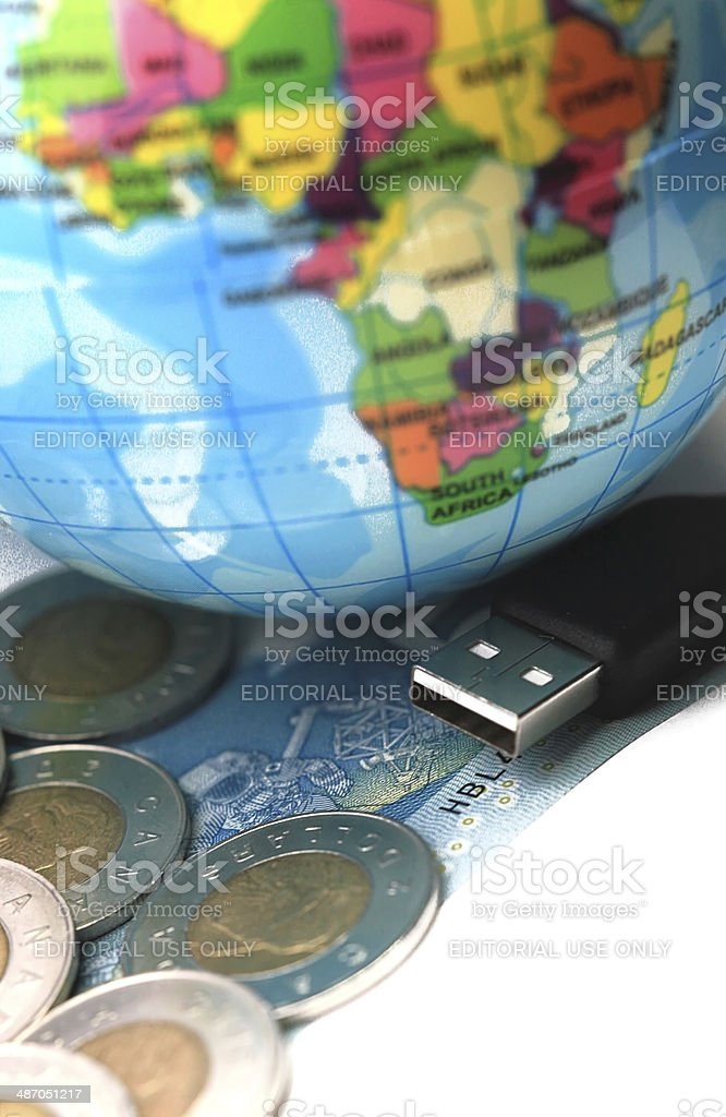 USB plug stock photo