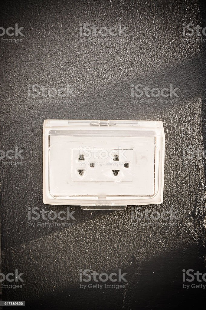 plug the device used to connect electrical signals to electrical stock photo
