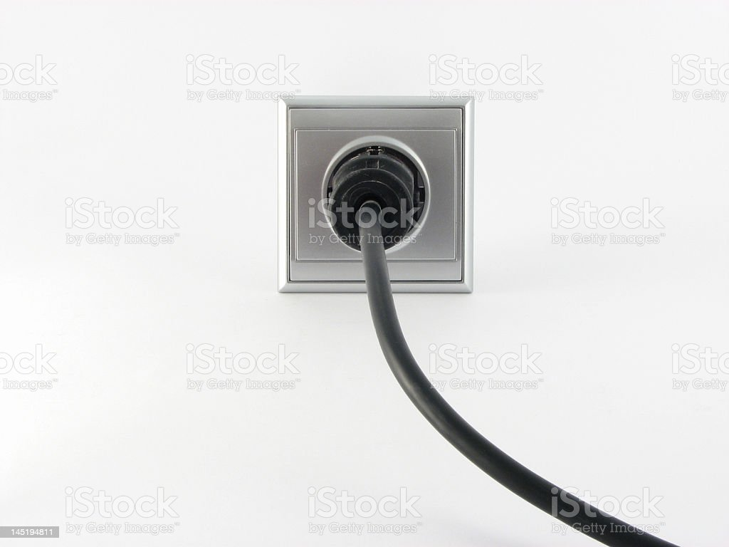 Plugged in royalty-free stock photo