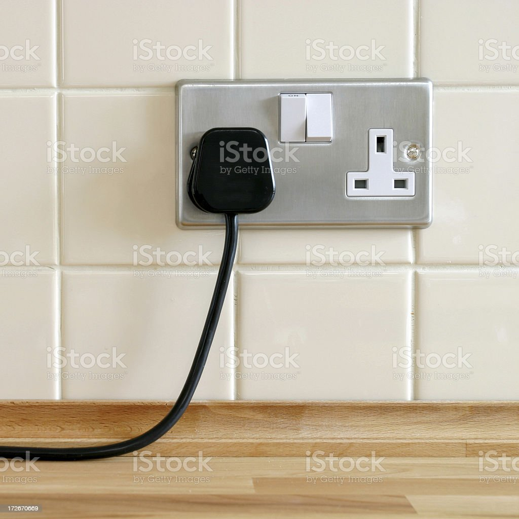 Plugged in stock photo