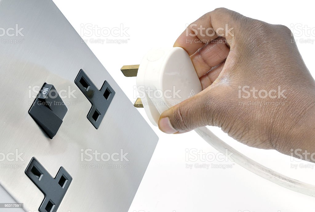 Plugging In stock photo