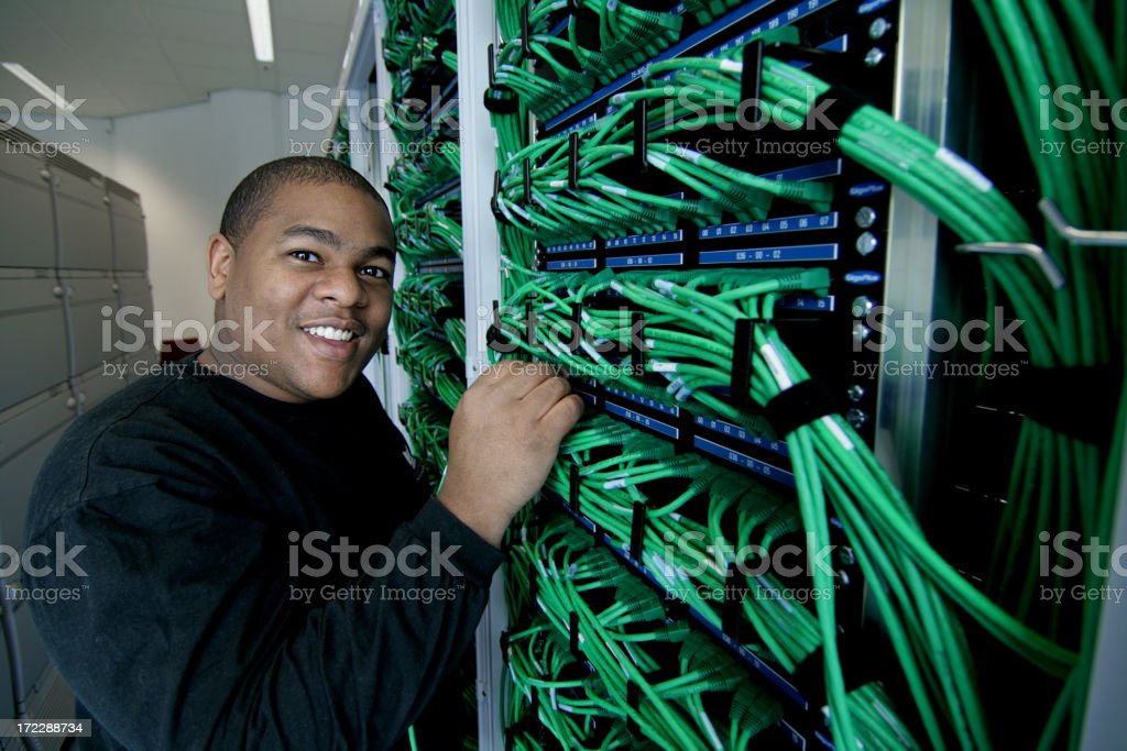 Plugging in the Wires royalty-free stock photo