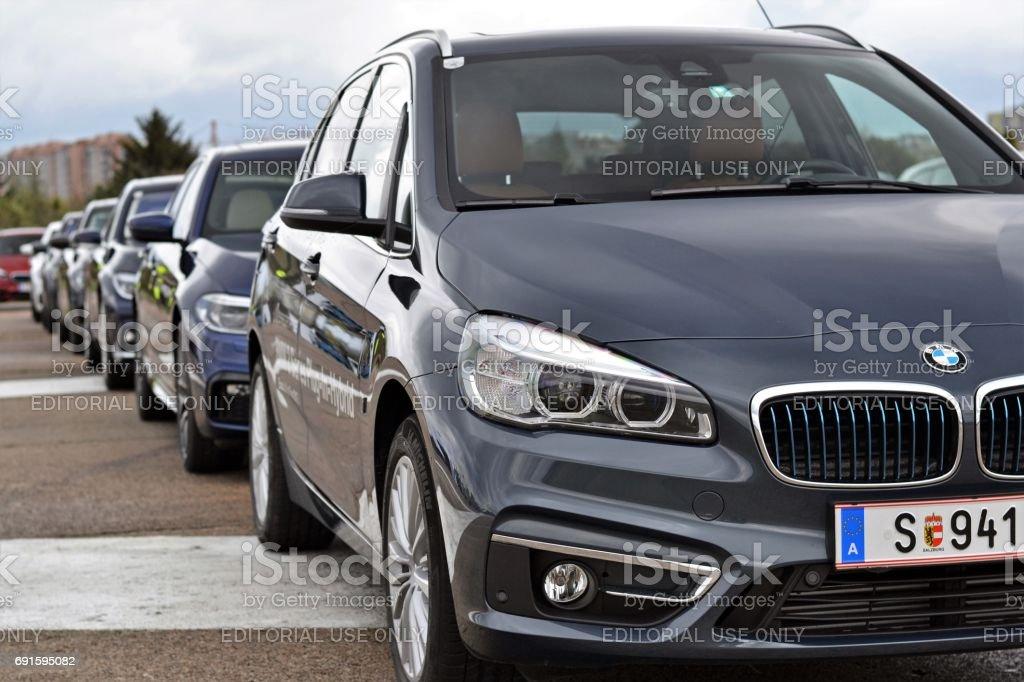 BMW Plug-in vehicles stock photo