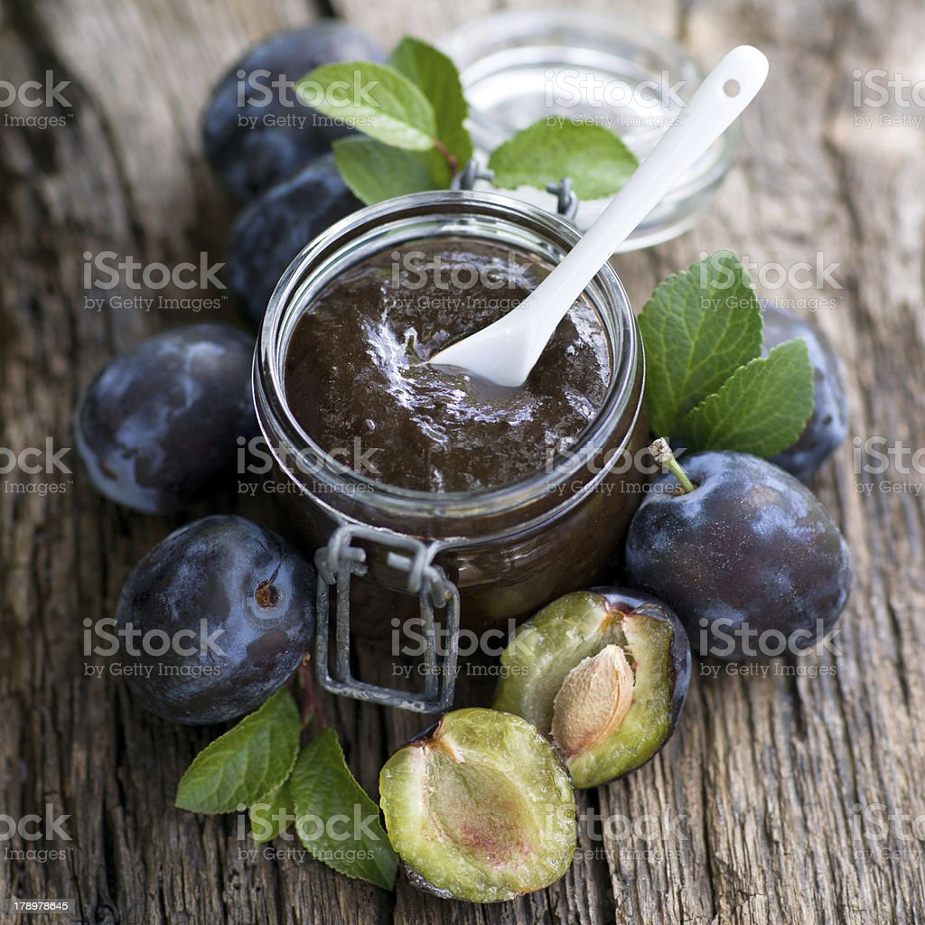 Plum butter royalty-free stock photo