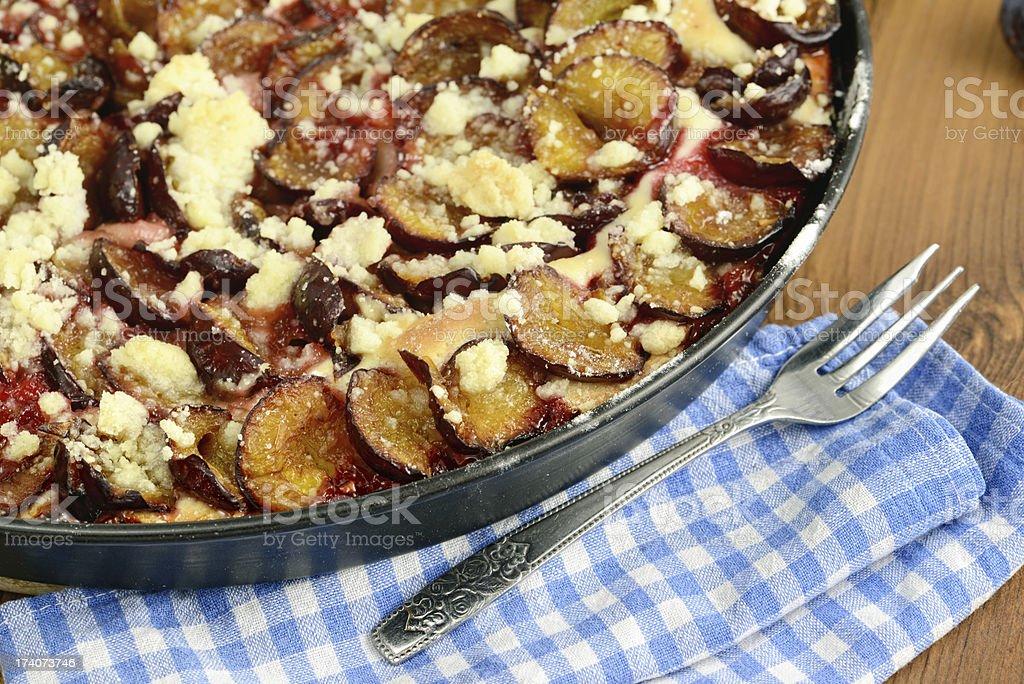plum cake of crumpet stock photo