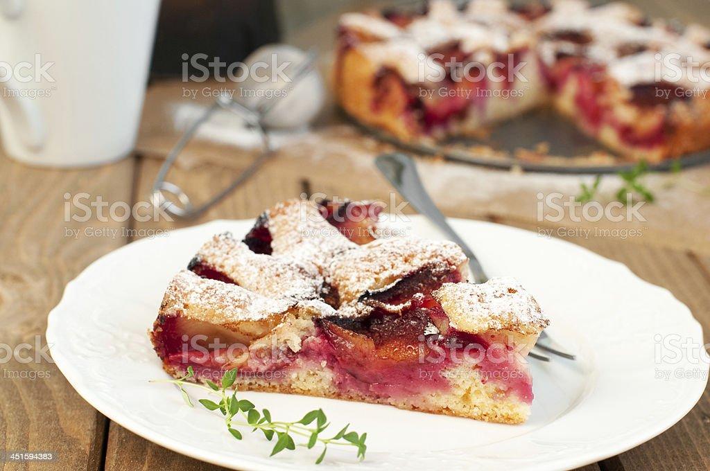 plum gâteau photo libre de droits