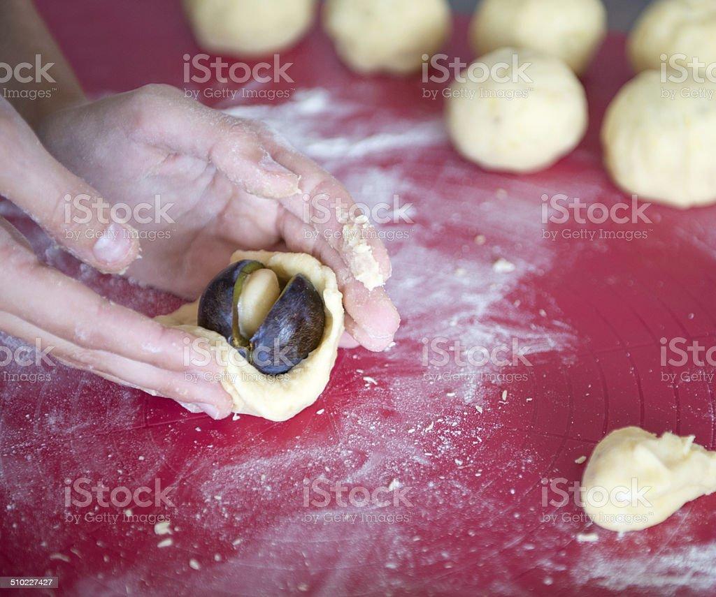 Plum Dumplings stock photo