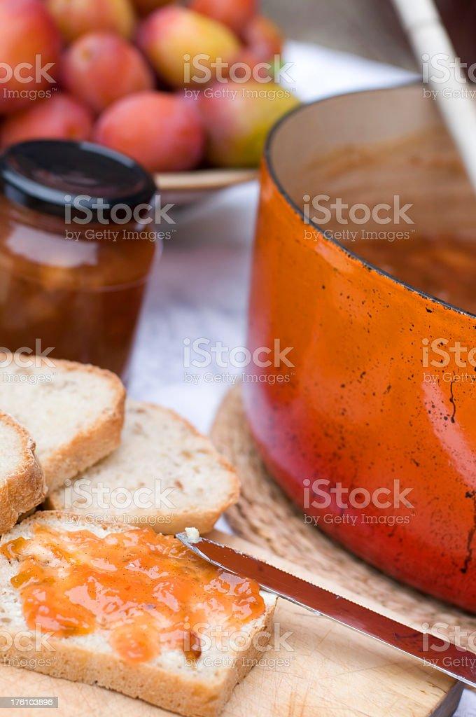 Plum jam royalty-free stock photo