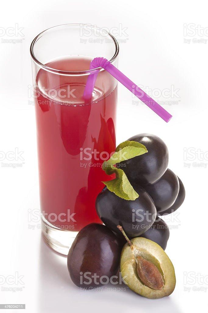 plum juice royalty-free stock photo
