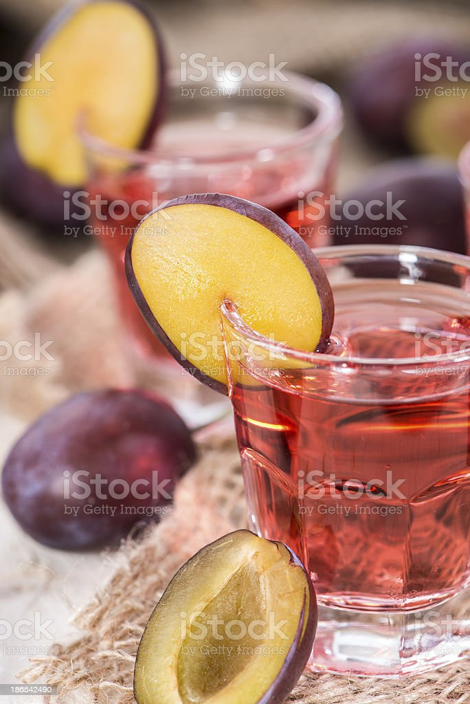 Plum Liqueur royalty-free stock photo