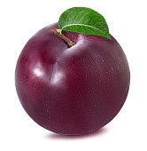 plum on a white