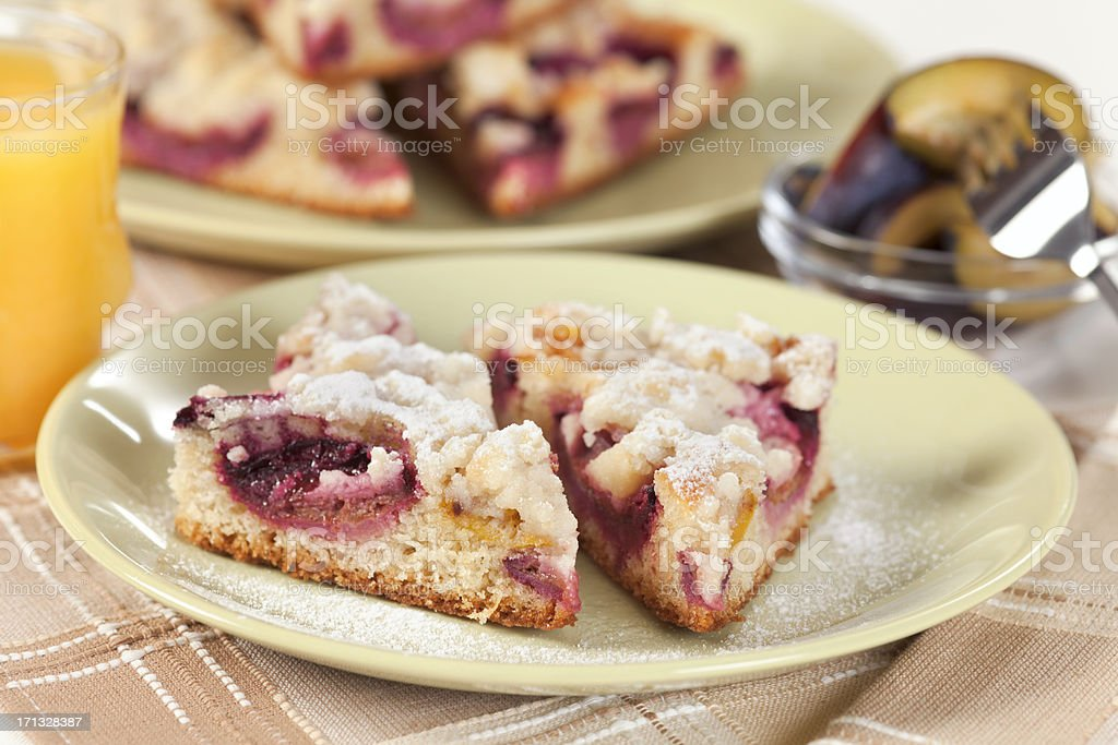 Plum Pie royalty-free stock photo