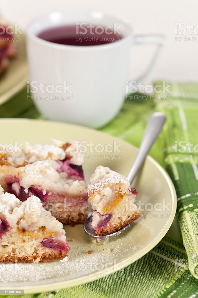 Plum Pie royalty-free stock photo