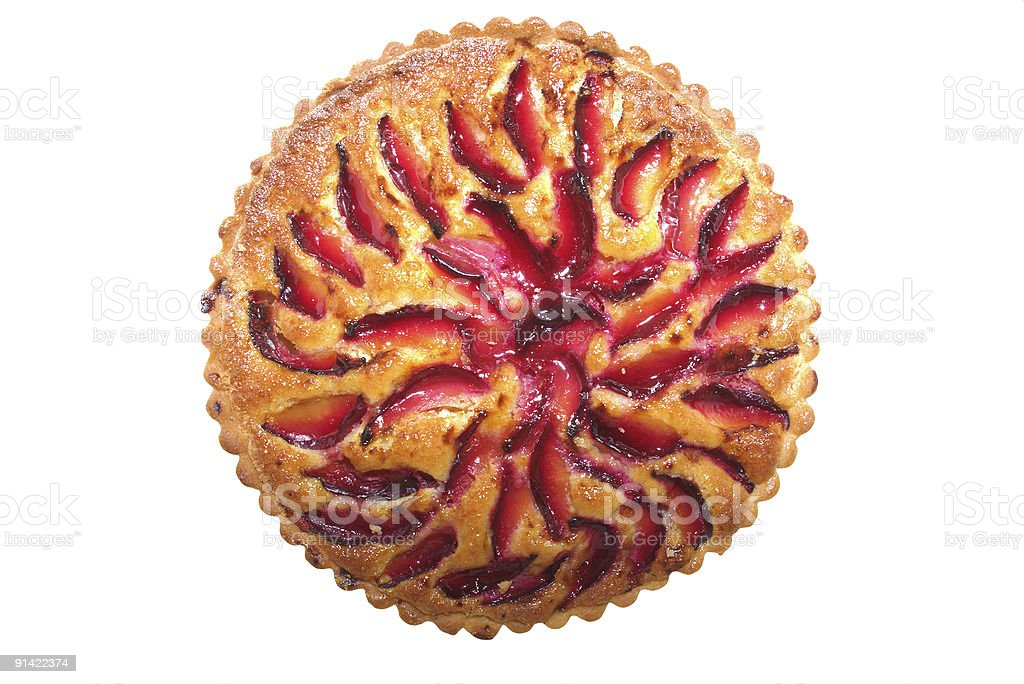 plum tart from the top royalty-free stock photo