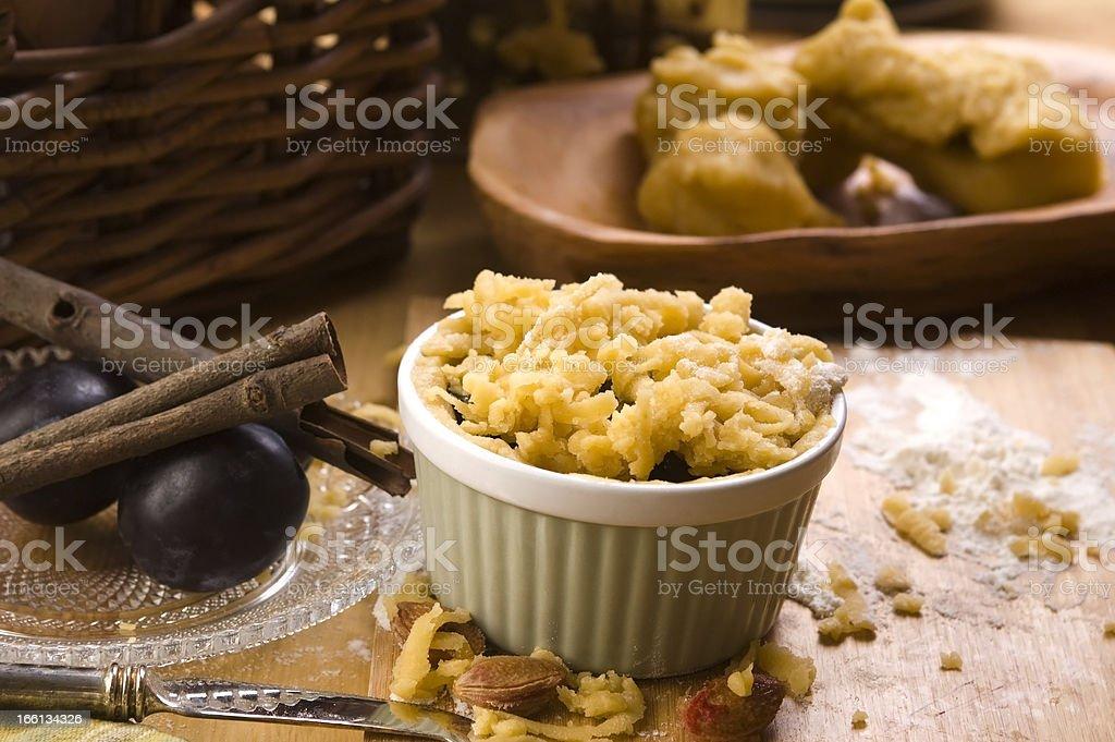 Plum tart ingredients royalty-free stock photo
