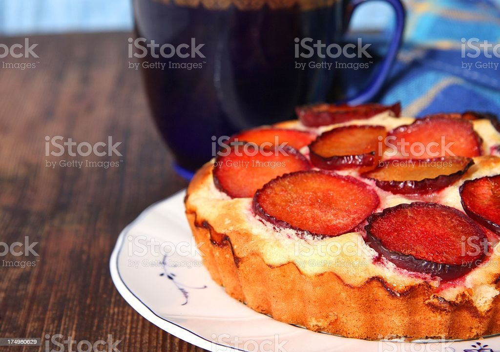 Plum tart royalty-free stock photo