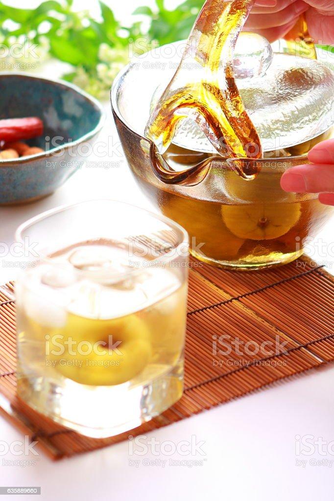 Plum Wine stock photo
