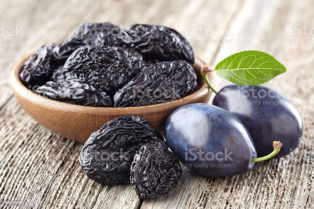 Plum with prunes stock photo