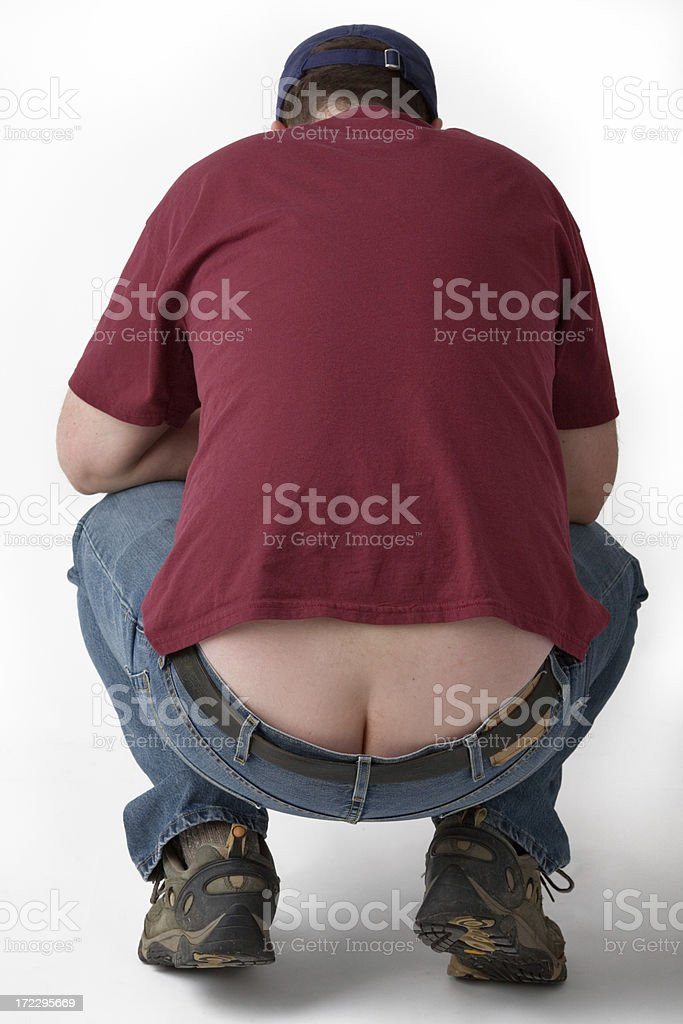 Plumber Butt! stock photo