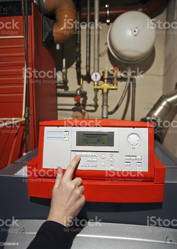 plumber heating royalty-free stock photo