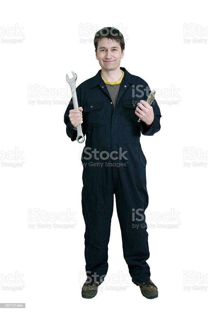 Plumber or Mechanic royalty-free stock photo