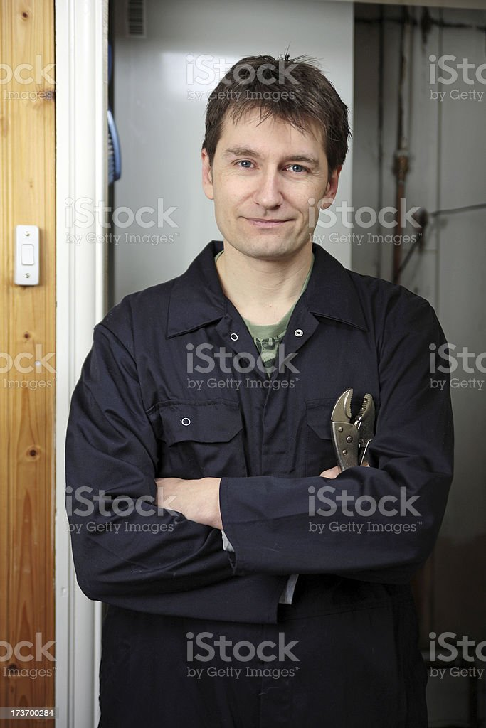 Plumber or Mechanic royalty-free stock photo