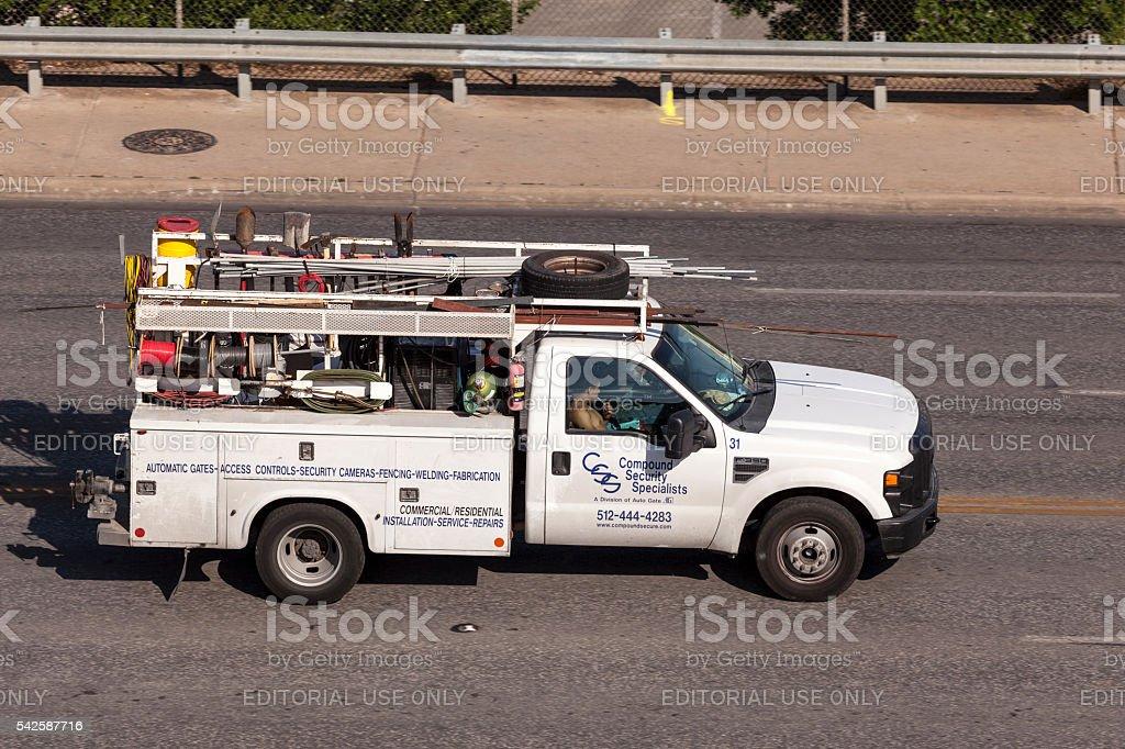 Plumber Pickup Truck stock photo