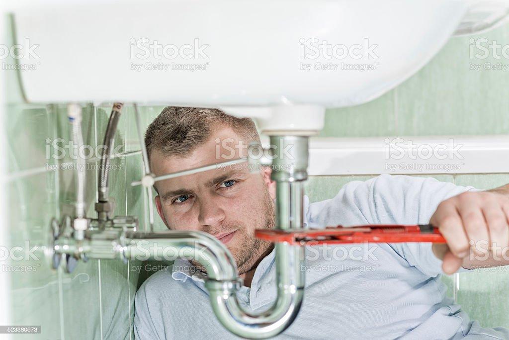 Plumber stock photo