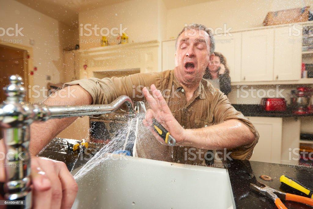 DIY plumber stock photo
