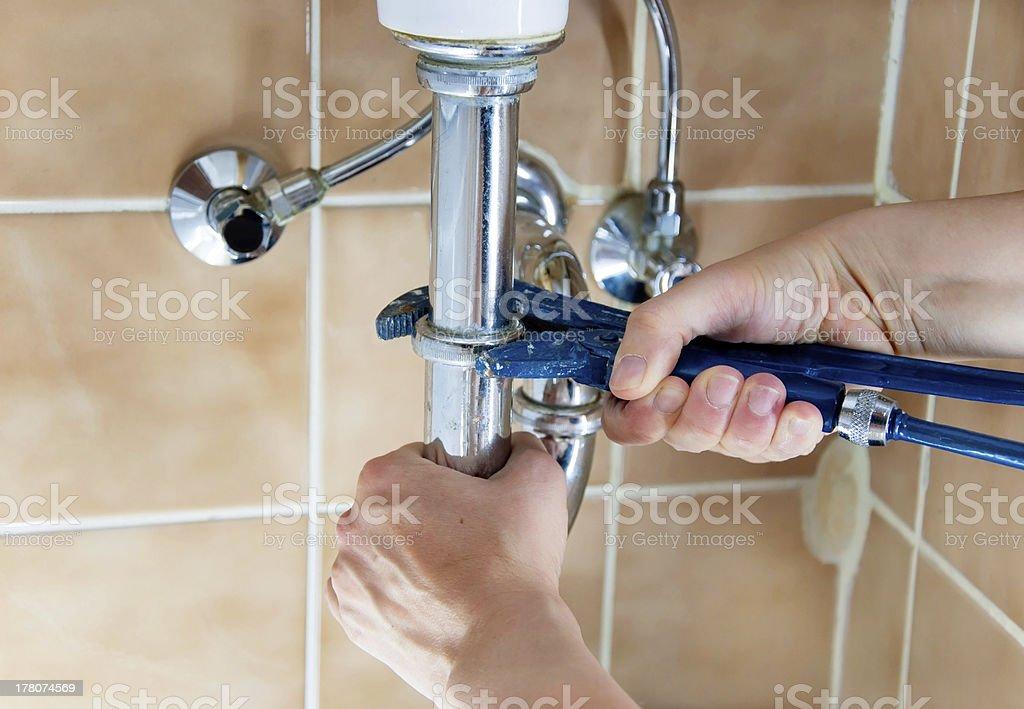plumber sink royalty-free stock photo