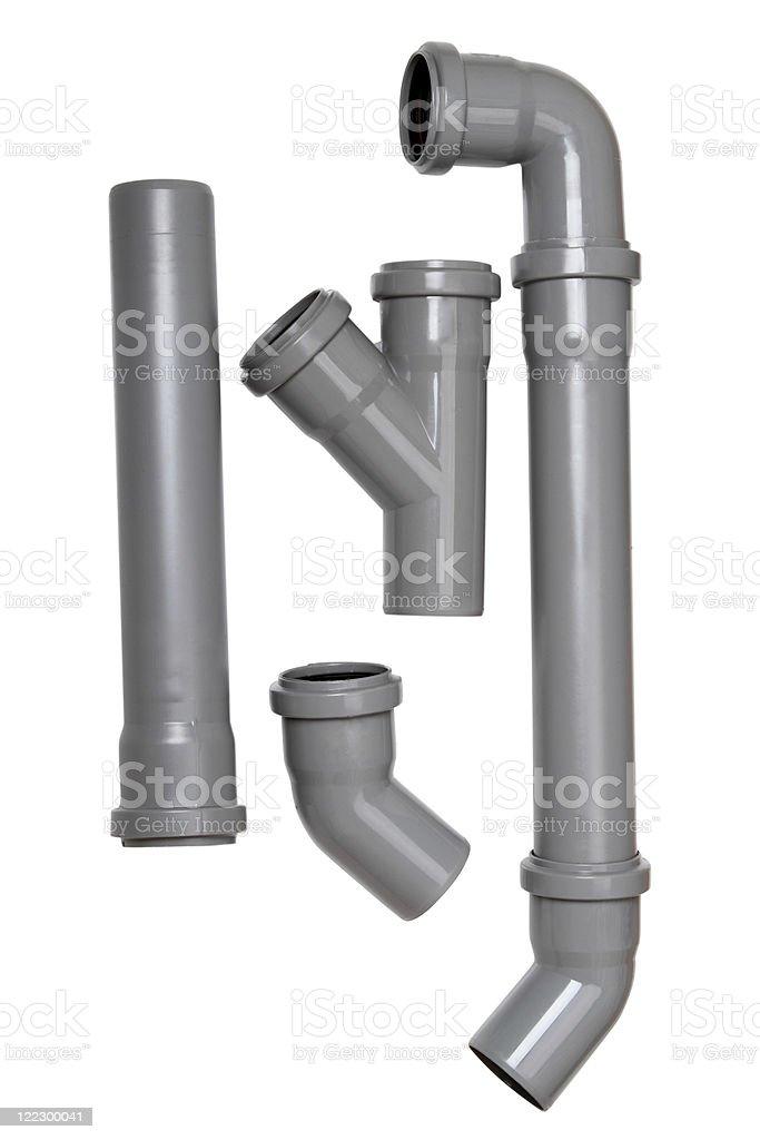 Plumber tubes stock photo