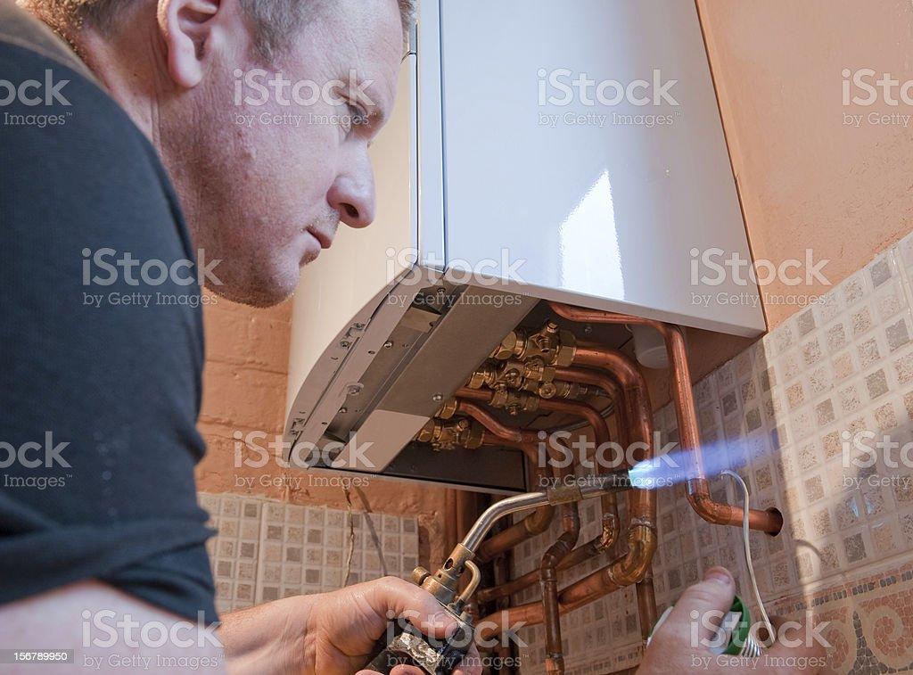 Plumber Working stock photo