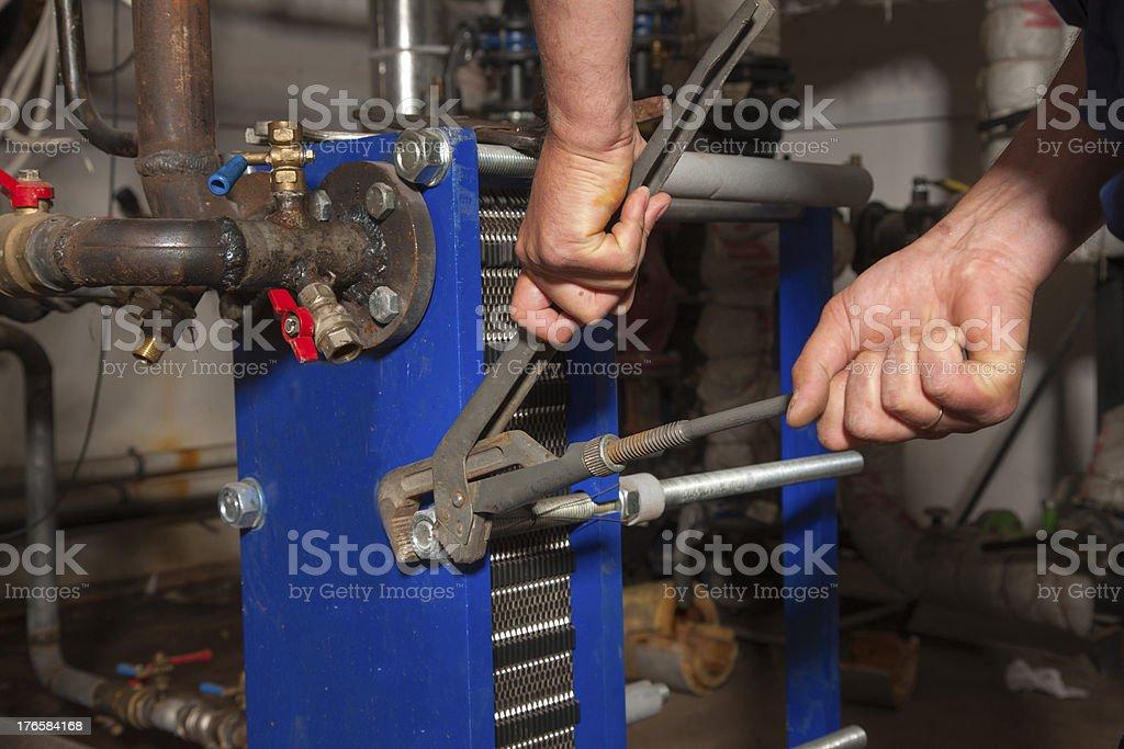 Plumber working royalty-free stock photo