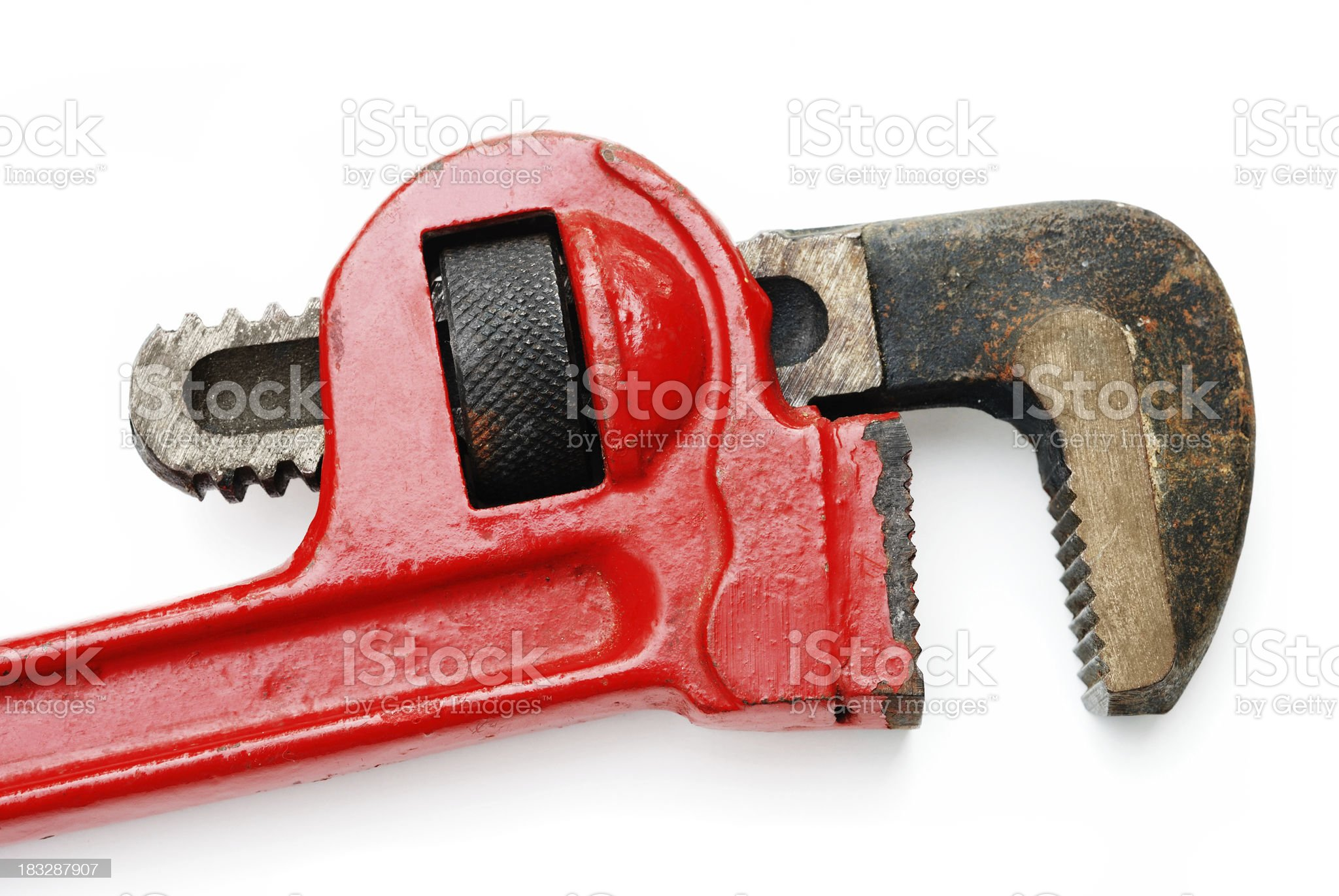 Plumber's pipe wrench royalty-free stock photo